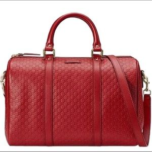 Coming soon brand new guccissima Boston red bag